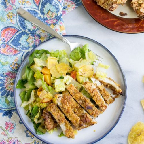 Plantain crusted chicken breast