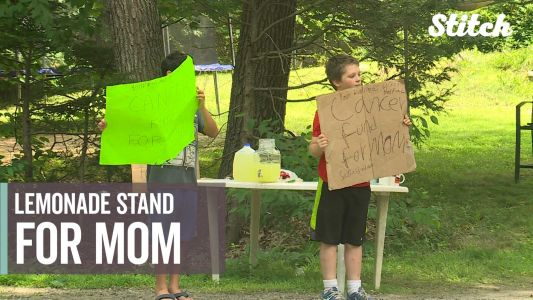 Family sets up lemonade stand to raise money while mother goes through cancer treatment