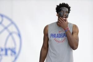 76ers' Joel Embiid in startling lineup for Game 3 at Heat