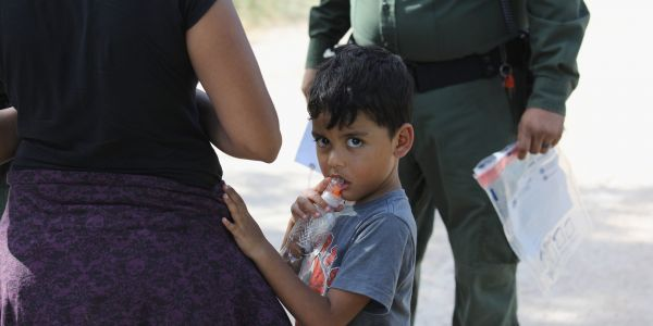 Border Patrol told a migrant mother to get on a bus and her daughter would be right behind her - but the doors closed and it drove away without her