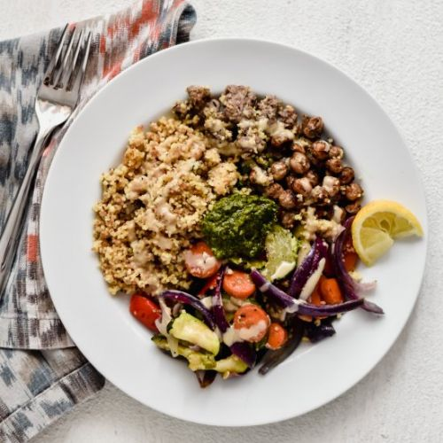 Roasted Vegetable Tahini Couscous
