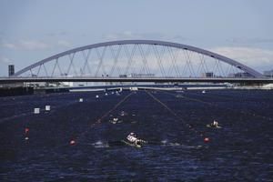 Tokyo opens Olympic rowing venue in heart of Tokyo Bay