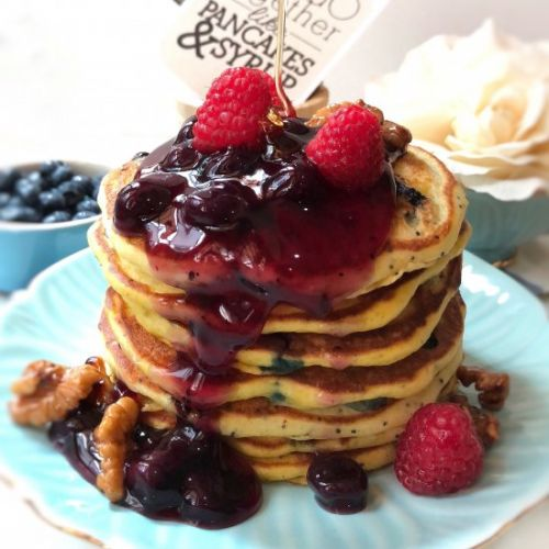 Blueberry Poppyseed Pancakes
