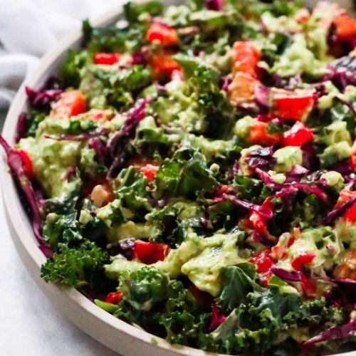 Kale Salad with Avocado Dressing
