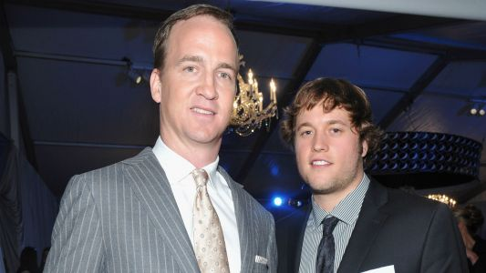 Peyton Manning offers some advice to Lions QB Matthew Stafford: 'Don't stare at the receiver'