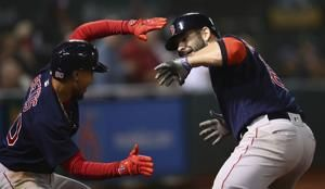 Moreland hits slam, Red Sox top A's 7-3 for 8th straight win