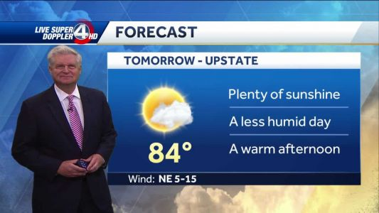 Videocast: Less Humid Wednesday