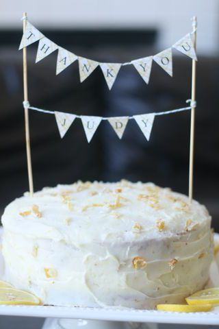 Lemon Layer Cake with Lemon Cream Cheese Frosting