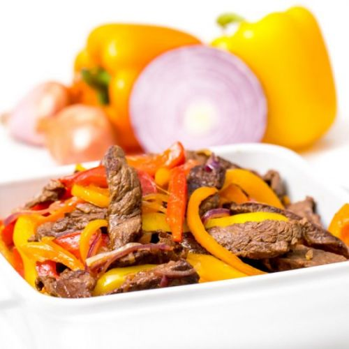 Easy steak and peppers