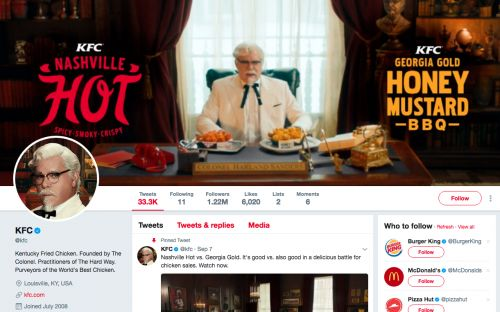 Someone figured out why the KFC Twitter account follows just 11 people - and it's a brilliant marketing ploy