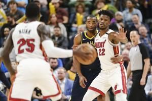 Heat's Butler, Pacers' Warren fined for altercation