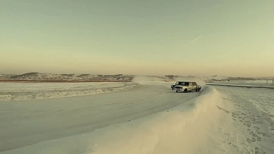 Watch This Gorgeous Footage Of A Whole Lada Sideways Ladas In The Snow