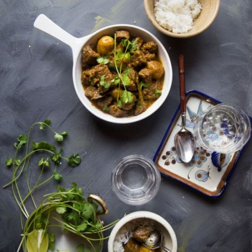 Burmese beef potato curry