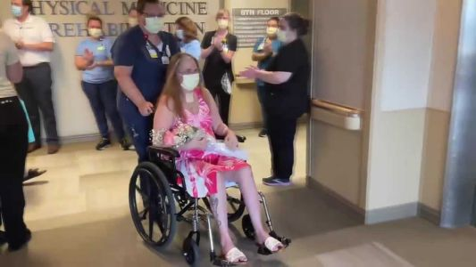 COVID-19 patient released after 89 days in Iowa hospital