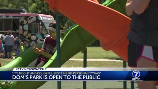 'It's bright and colorful, just like his personality was': Dom's Park is open to the public