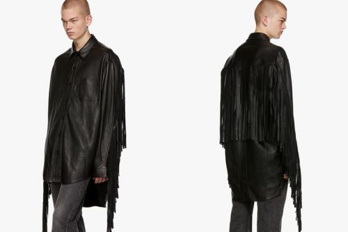 Vetements Upgrades the Button-Down With Exaggerated Lambskin Leather Fringes