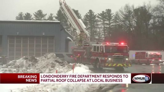Roof at Londonderry business partially collapses