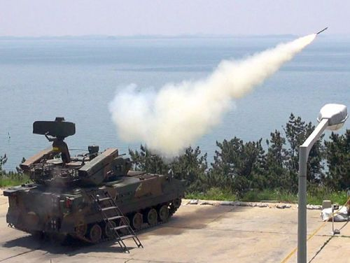 This vehicle is bristling with weapons to shoot down Kim Jong Un's aerial menace
