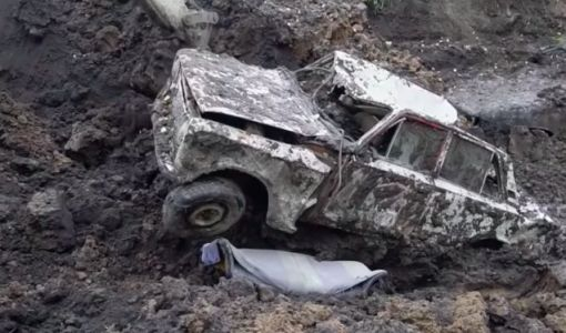 Look at How Ruined These Cars Are After Being Unearthed After One Year Underground