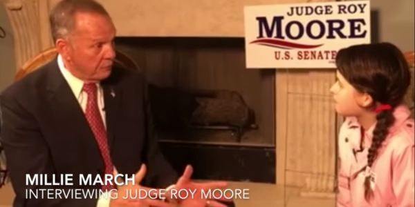 Roy Moore, facing allegations of sexual misconduct with teenage girls, sits down for interview with 12-year-old girl