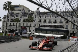 Leclerc tops 3rd practice in Monaco, teammate Vettel crashes