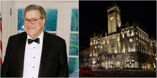 Attorney General Barr rescheduled his controversial holiday party at Trump's DC hotel, and now it's a secret when it is