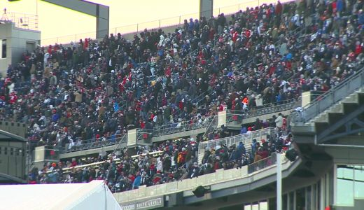 Fans celebrate Patriots playoff victory over Chargers