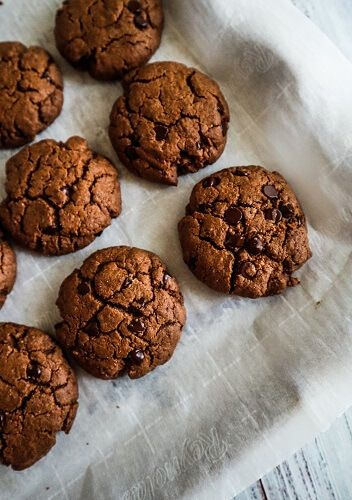 Vegan Double Chocolate Almond Butter Cookies