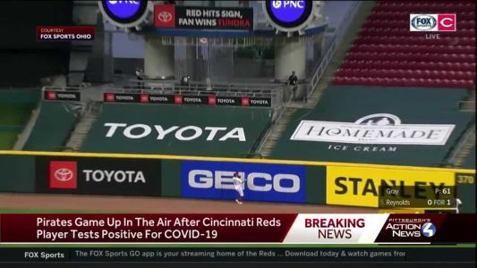 Pirates game postponed after Reds player tests positive for COVID-19