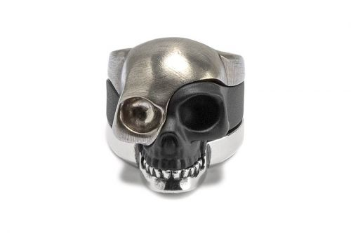 Alexander McQueen Drops Triple-Tiered Metallic Skull Ring