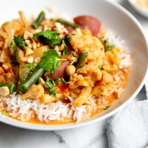 Slow Cooker Thai Vegetable Curry