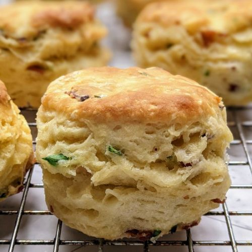 Flaky Bacon Chive Biscuits