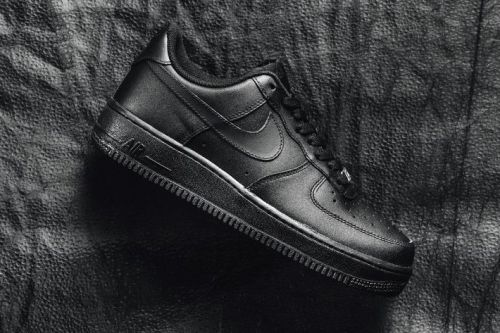 Nike Goes All-The-Way Black in New Version of Its Air Force 1 '07 Model