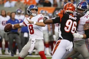 Jones leads TD drive in Giants' 25-23 win over Bengals