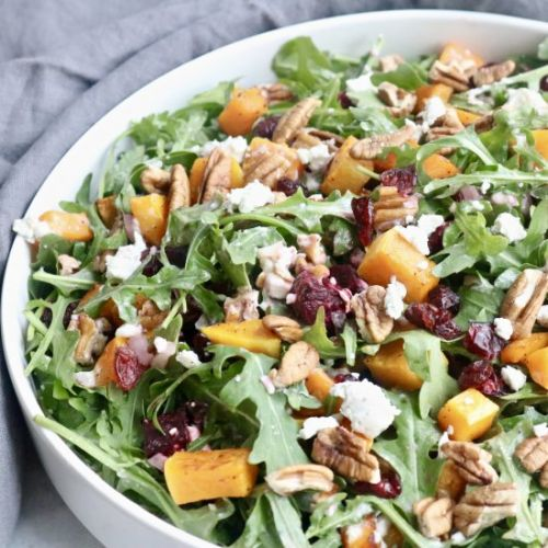 Winter Roasted Squash Beet Salad