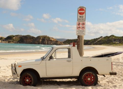 Sunday is a great time to get out there in your Lada Niva pickup conversion and hit the waves, I'd s