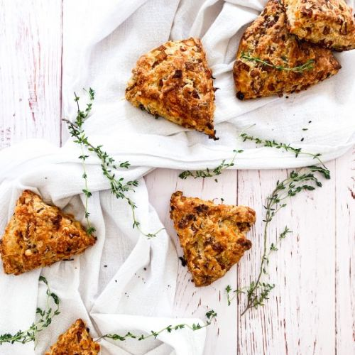 French Onion and Gruyere Scones
