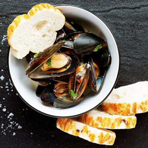 Cream and Bacon Mussels