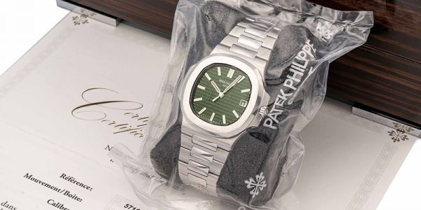 First Green-Dialed Patek Philippe Nautilus Appears at Auction - Still Sealed