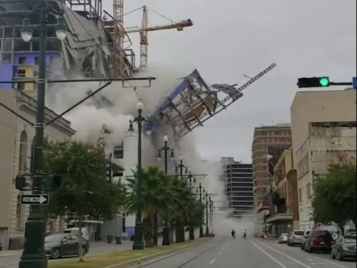 Shocking video shows the Hard Rock Hotel site collapse in New Orleans' French Quarter