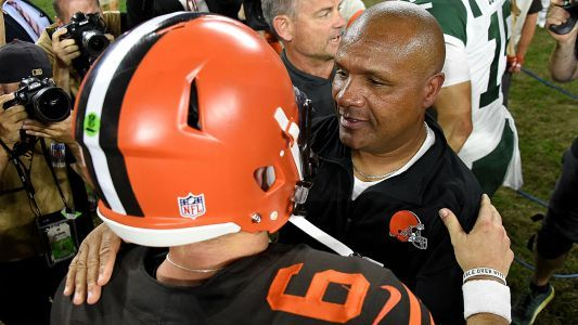 Baker Mayfield gets Browns a win, but Hue Jackson doesn't get a pass