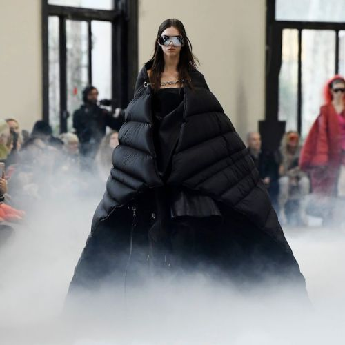 Puffer Coats Now Come in Cape Form, Thanks to the Rick Owens PFW Show
