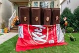 This King-Size Kit Kat Halloween Costume Fits 4 People, So Scoot Over, Fun-Size Candy Bars!