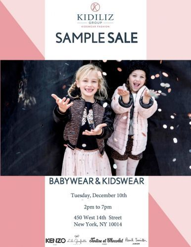 Kidiliz Sample Sale, 12/11 - 12/15, NYC