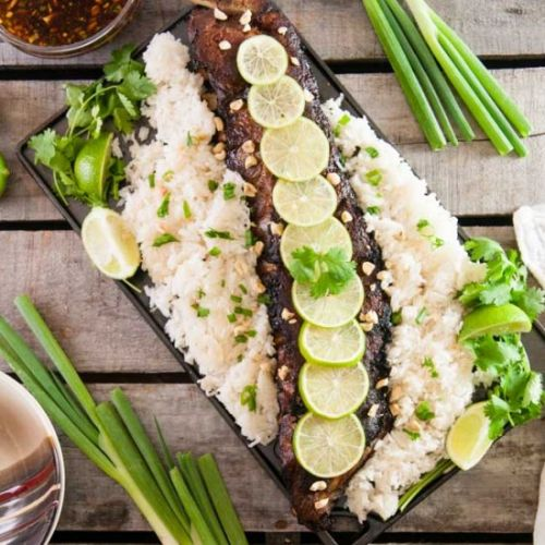 Thai Ribs with Coconut Rice