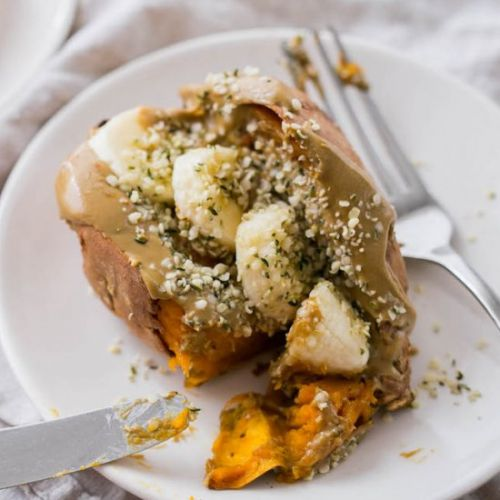Baked Sweet Potato with Sun Butter