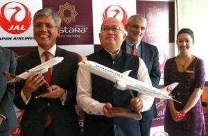 Vistara & Japan airlines partners for code sharing agreement