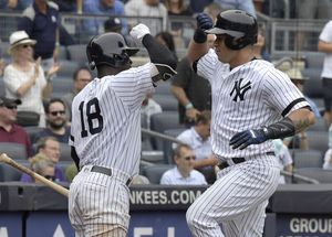 Judge hits 45th HR, young girl hit by foul, Yanks top Twins