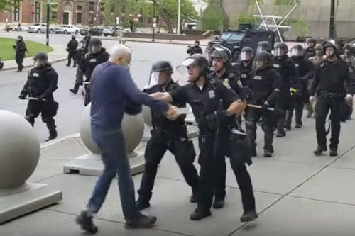NYC calmer as Buffalo police face ire after officer shoved elderly protester
