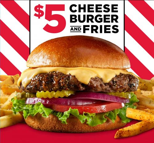 TGI Fridays Makes Every Day Cheeseburger Day with $5 Cheeseburgers & Fries